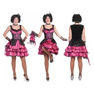 Franse Can Can girl roze - Verkleedkleding - Kostuum vrouw