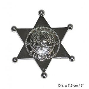 Zilver Sheriff Ster - Carnaval Verkleedkleding