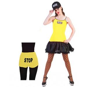 Politievrouw geel - kostuum vrouw