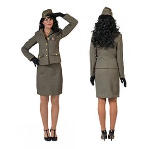 Officier - militair kostuum vrouw