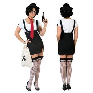 Bonnie - gangster kostuum vrouw
