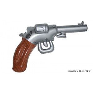 Opblaas Cowboy Revolver - Carnaval Verkleedkleding
