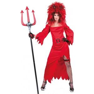 Duivel Diane - Verkleedkleding Halloween - Kostuum Vrouw