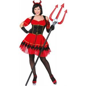 Lady Inferno Jurk - Verkleedkleding Halloween -Kostuum Vrouw
