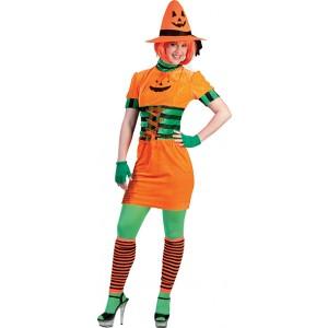 Pompoen Jurk - Halloween Verkleedkleding - Kostuum Vrouw