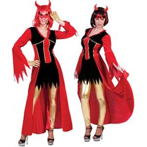 Devil Ava Jurk - Verkleedkleding Halloween - Kostuum Vrouw