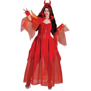 Satan Lucy Jurk - Verkleedkleding Halloween - Kostuum Vrouw