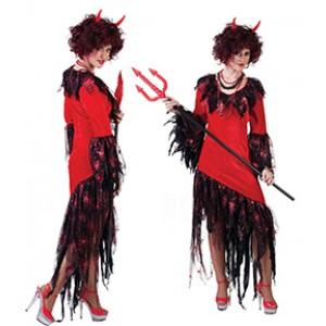Duivel Jurk - Verkleedkleding Halloween - Kostuum Vrouw