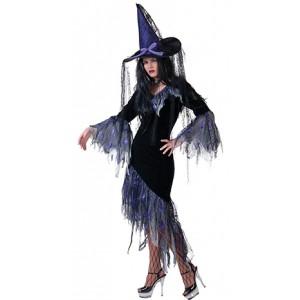 Violet Heksenjurk - Halloween Verkleedkleding  Kostuum Vrouw