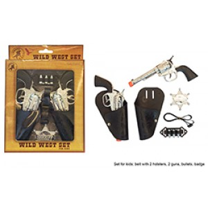 Sheriff Accessoire Set Dubbel - Carnaval Verkleedkleding
