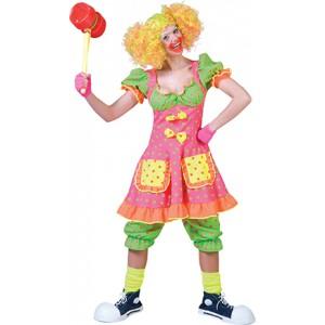 Clown Fluorina - Gezelligheid kent geen tijd - Kostuum vrouw