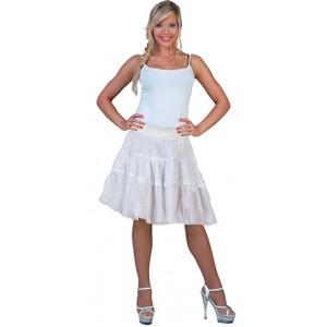 Kant rokje wit - Landen Verkleedkleding - Kostuum Vrouw