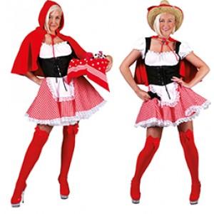 Roodkapje - Sprookjes verkleedkleding - Kostuum vrouw