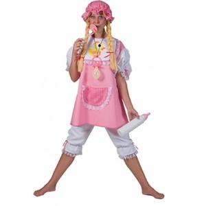 Roze Baby - Bachelor Carnaval Verkleedkleding Kostuum Vrouw