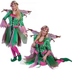 Elf Rosy - Fantasie Verkleedkleding - Kostuum Vrouw