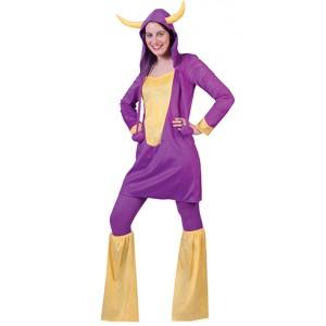 Paarse Koe - Carnaval Verkleedkleding - Kostuum Vrouw