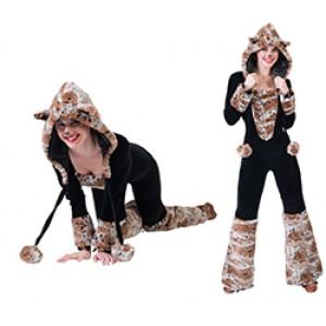 Sneeuw Luipaard - Carnaval Verkleedkleding - Kostuum Vrouw