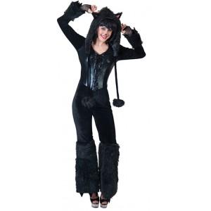 Zwarte Panther - Carnaval Verkleedkleding - Kostuum Vrouw