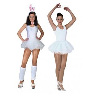 Witte Ballerina - Carnaval Verkleedkleding - Kostuum Vrouw