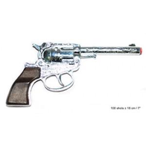 Zilver Cowboy Revolver - Carnaval Verkleedkleding