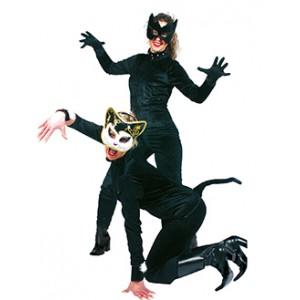 Zwarte Catsuit - Sexy Verkleedkleding - Kostuum Vrouw
