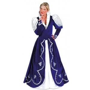 Blauwe Prinses Carnaval Jurk - Verkleedkleding Kostuum Vrouw