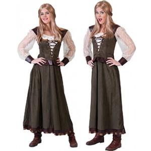 Boerin / Horige - Middeleeuwen Verkleedkleding Kostuum Vrouw