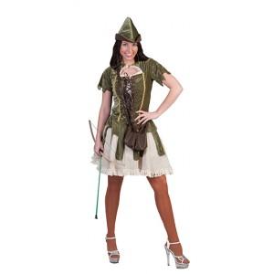Bos Jaagster - Middeleeuwen Verkleedkleding Kostuum Vrouw