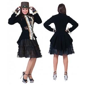 Damesjasje - Steampunk Verkleedkleding - Kostuum Vrouw
