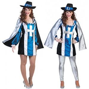 Luxe Musketier Renaissance Verkleedkleding - Kostuum Vrouw
