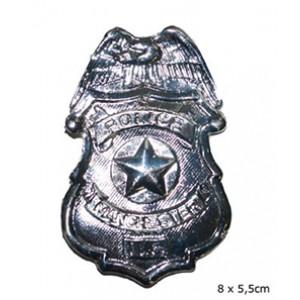 Politie Badge Grijs - Carnaval Verkleedkleding