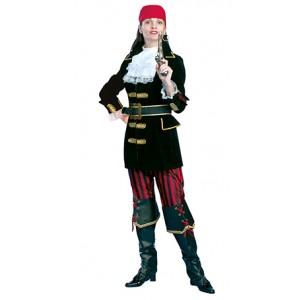 Luxe Piraat Kapitein - Piraten Verkleedkleding Kostuum Vrouw