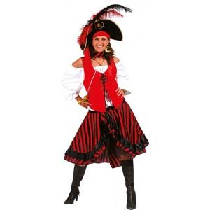 Kapitein Jacky - Piraten Verkleedkleding - Kostuum Vrouw