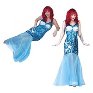 Ariel Zeemeermin Jurk - Zee Verkleedkleding - Kostuum Vrouw