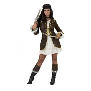 Sexy Kapitein Jane - Piraten Verkleedkleding - Kostuum Vrouw