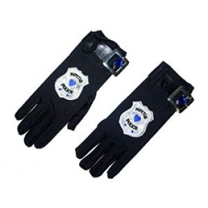 Politie Handschoenen Zwart - Carnaval Verkleedkleding