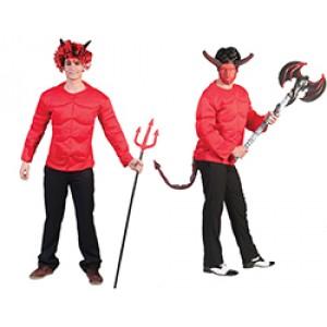 Duivel Spieren Shirt - Verkleedkleding Halloween -Kostuum