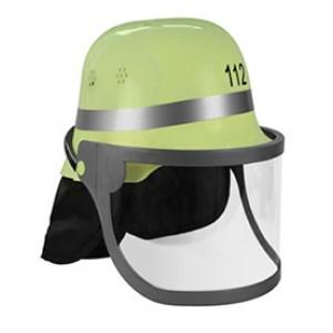 Brandweer Helm Kap Geel - Carnaval Verkleedkleding