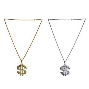 Dollarteken ketting Zilver