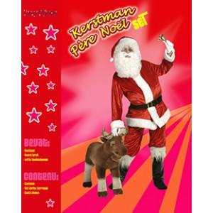 Volledige Kerstman Set - Kerst Verkleedkleding - Kostuum Man