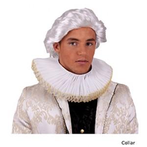 Gouden eeuw Heren Kraag - Verkleed accessoires - Kostuum Man