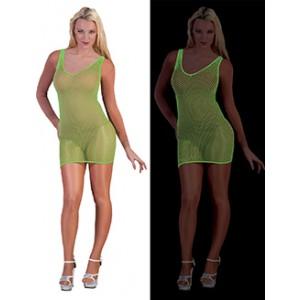 Net Jurk Neon Groen - Sexy verkleedkleding - kostuum vrouw