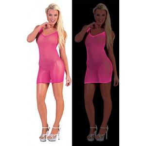 Net Jurk Neon Roze - Sexy verkleedkleding - kostuum vrouw