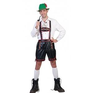Zwarte lederhose - Verkleedkleding Oktoberfest - Kostuum Man