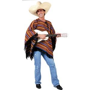 Poncho Diego - Verkleedkleding Zuid-Amerika -Kostuum Man