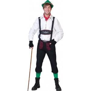 Wit Alpen Shirt - Verkleedkleding Oktoberfest - Kostuum Man