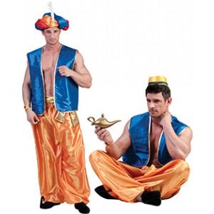 1001 Nachten Vest Blauw - Arabische Verkleedkleding