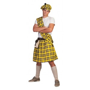 Schot Geel - Verkleedkleding Schotland  - Kostuum Man