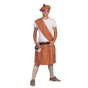 Schot Oranje - Verkleedkleding Schotland  - Kostuum Man