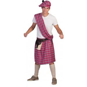 Schot Roze - Verkleedkleding Schotland  - Kostuum Man